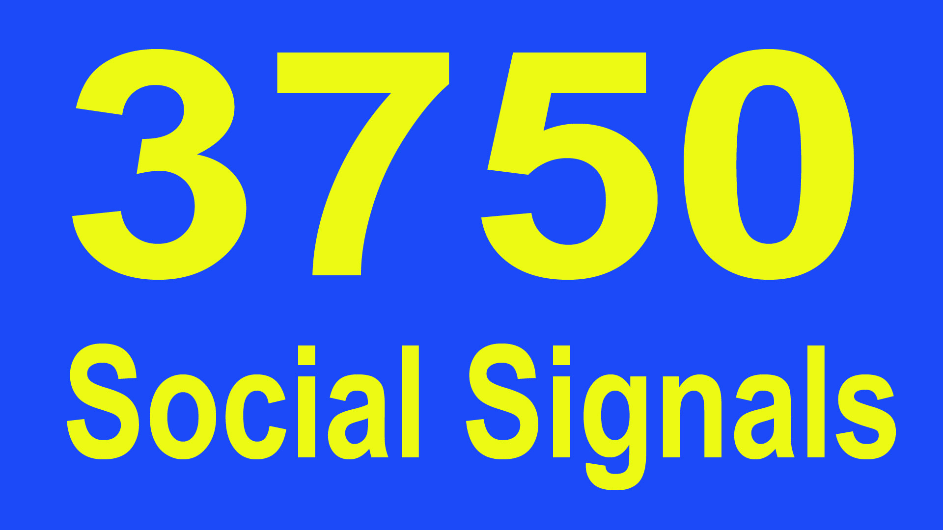 Powerfully built 3750 Social Shares Signals to heavy ...