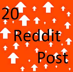 Manually 20 Reddit Post