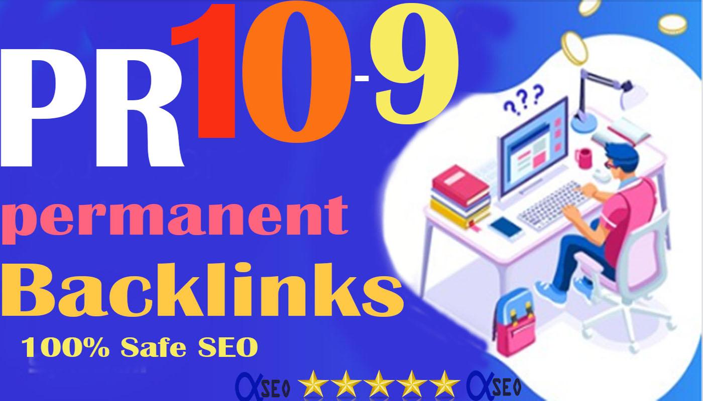 Limited Offer PR10-9 Safe SEO 90+ DA 30 Backlinks Dri...