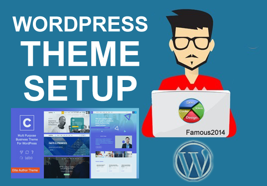 Install and configure any WordPress theme to your sit...