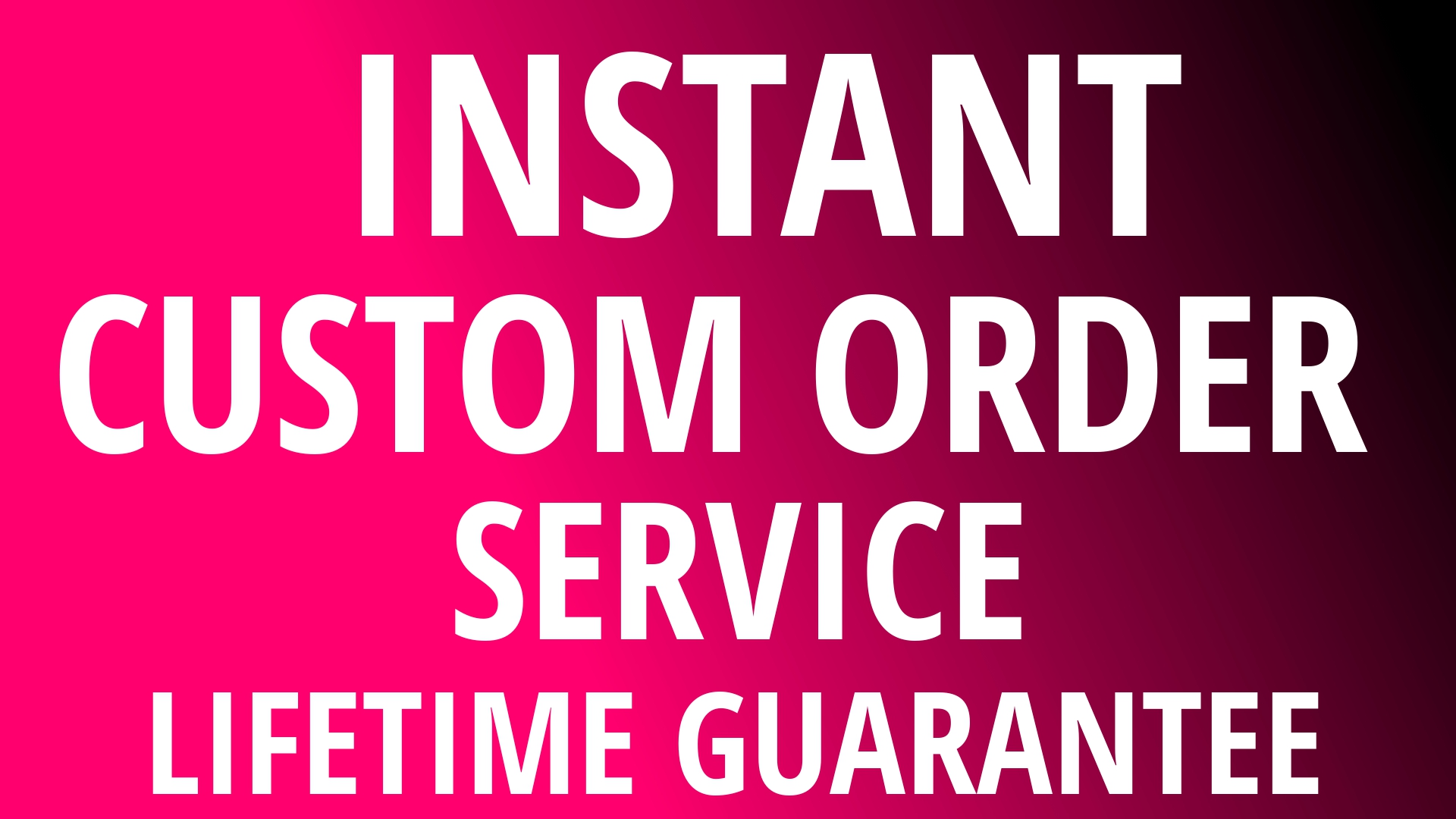 Any Custom Order At very Cheapest Price