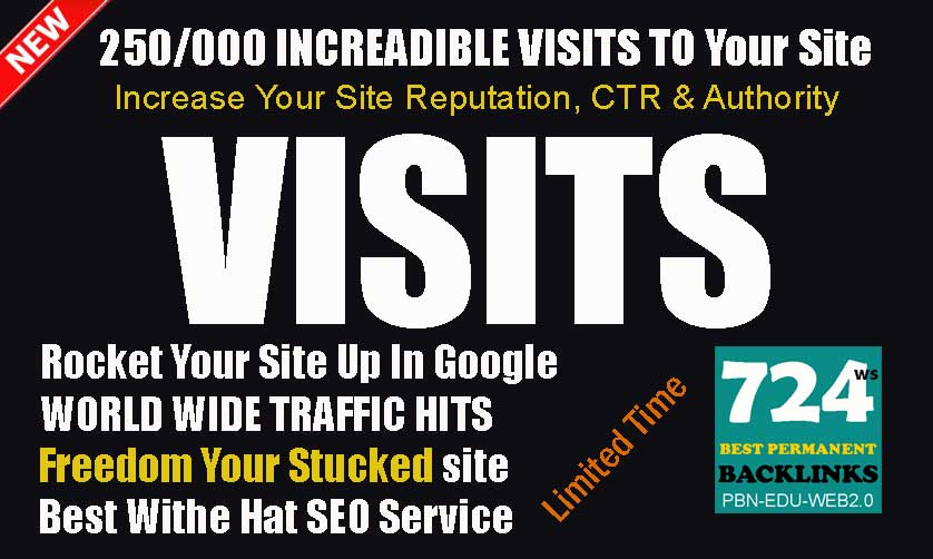 Send 250/000 Real Traffic Visits Worldwide- Alexa Ranking Impressive Service