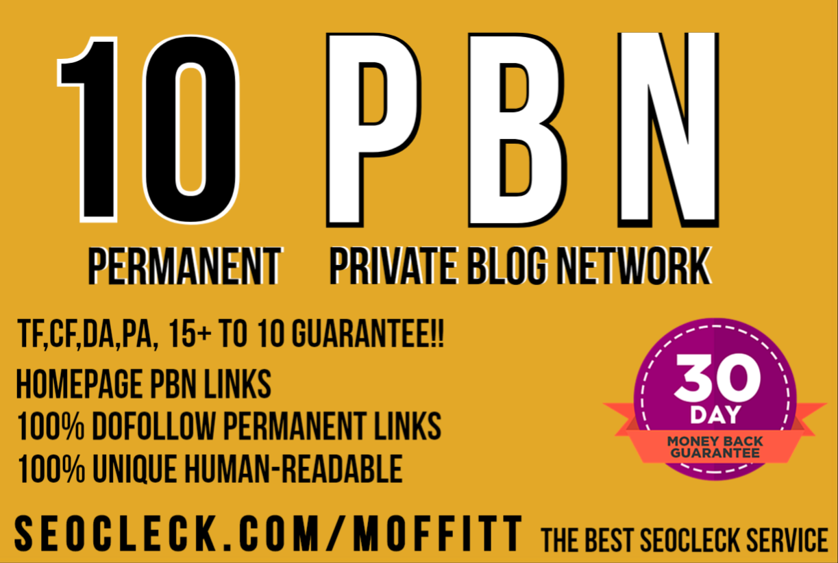 Create 10 High PA/DA T F/CF Homepage PBN Backlinks To Skyrocket you SERP