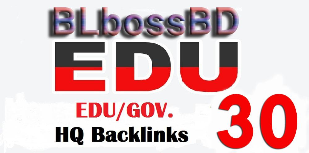 Perfect 30 Edu/Gov.Safe SEO Backlinks create Google Ranking your Website