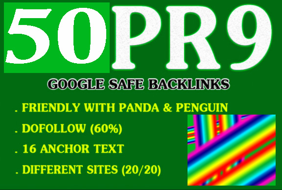 Google Page Rank Improve 50 Pr9 High PR Authority Domains Safe Seo Backlinks