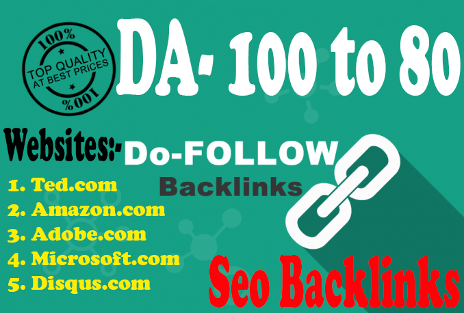 DA 80+ 50 High PR Profile Creation Seo Backlinks