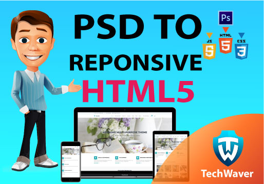 Convert your PSD To HTML With Bootstrap Responsive