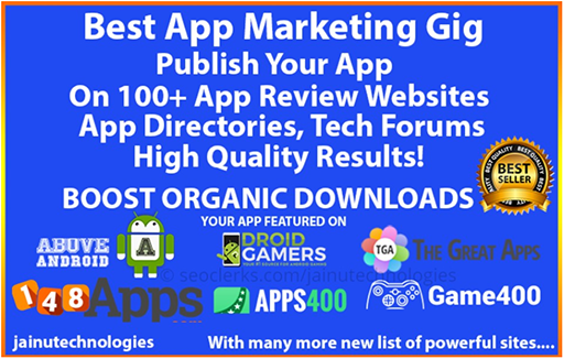 App Promotion, App Marketing With High Quality Backlinks For Your App Or Game