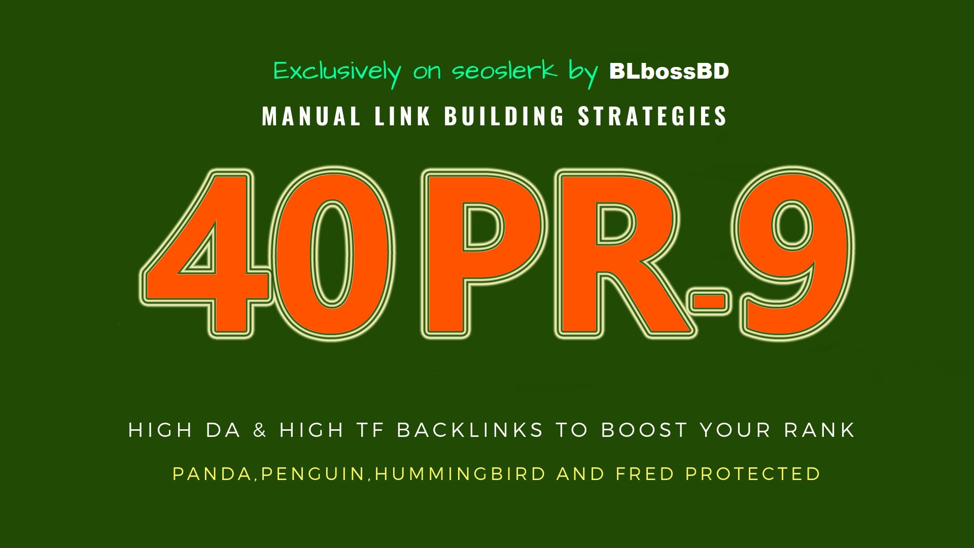 I Will Create 40 PR9 Trust Authority LIVE & Permanent Profile backlinks