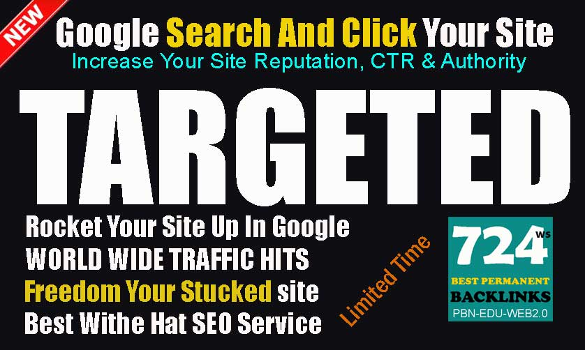 Search Targeted Keywords Real Traffic Visitors Service To Rank Fast And Safe