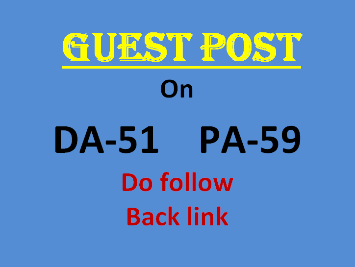 Publish a guest post with 2 backlinks on DA 51 site