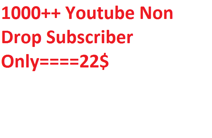1000+Youtube promotion via real users active and permanent with fast delivery