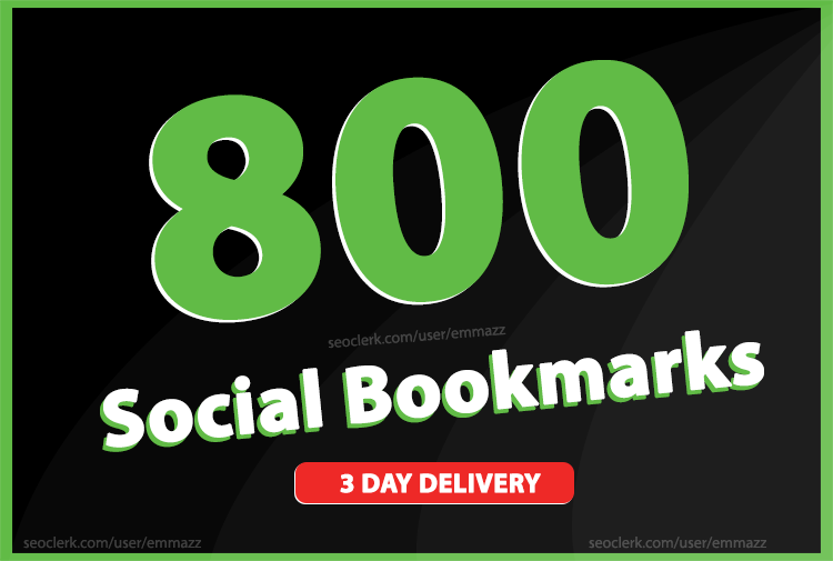 add 800 social bookmarking backlinks for Rank Your website High In Google Ranking