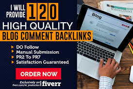 Manually 100 Blog Comment Backlinks highpr actual page rank 6 to 2