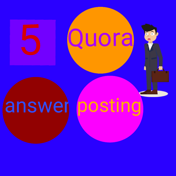 High Quality 5 Quora Answer posting with your keyword...