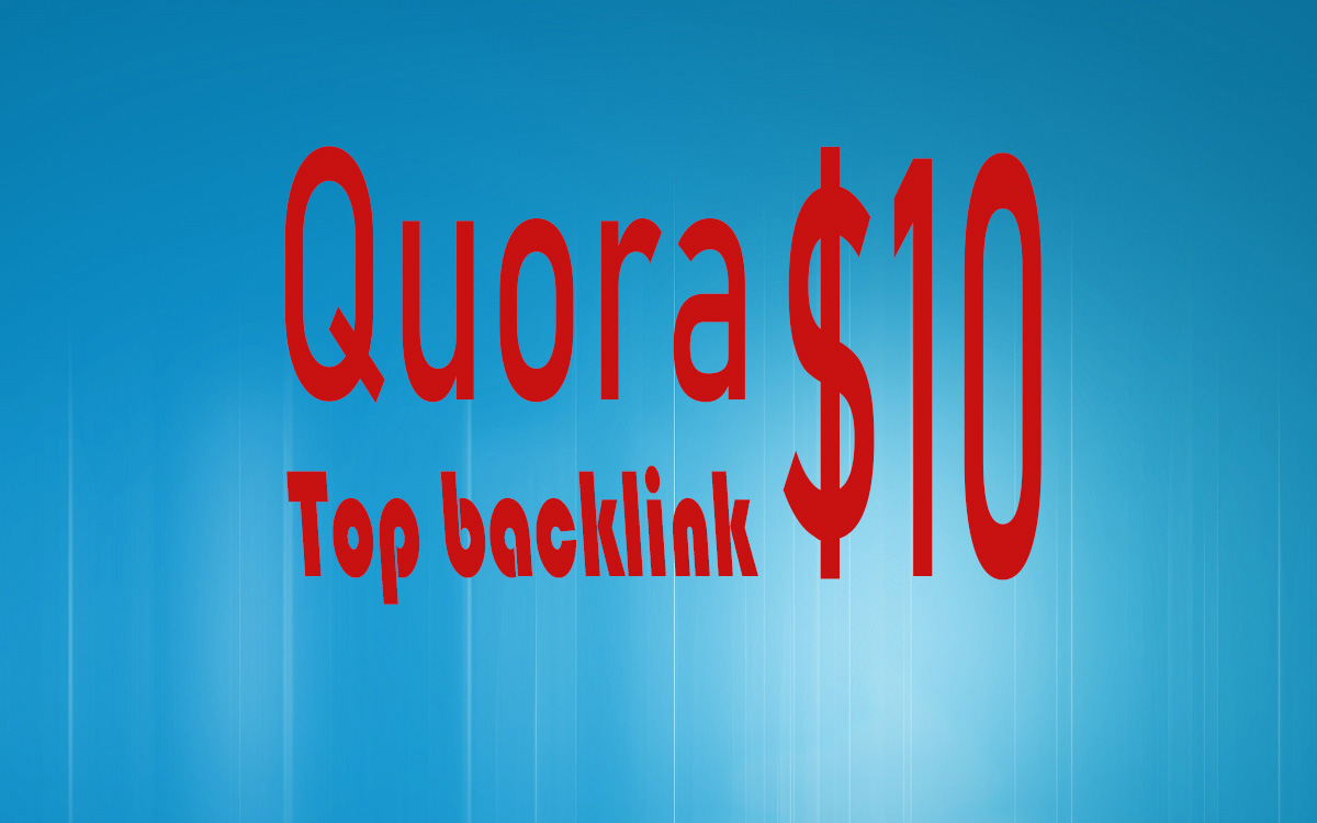 Add top backlinks on Quora questions