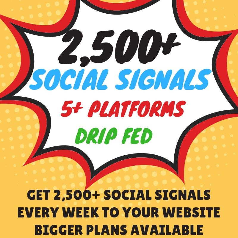 Weekly Social Signals Subscription Service 5K Weekly ...