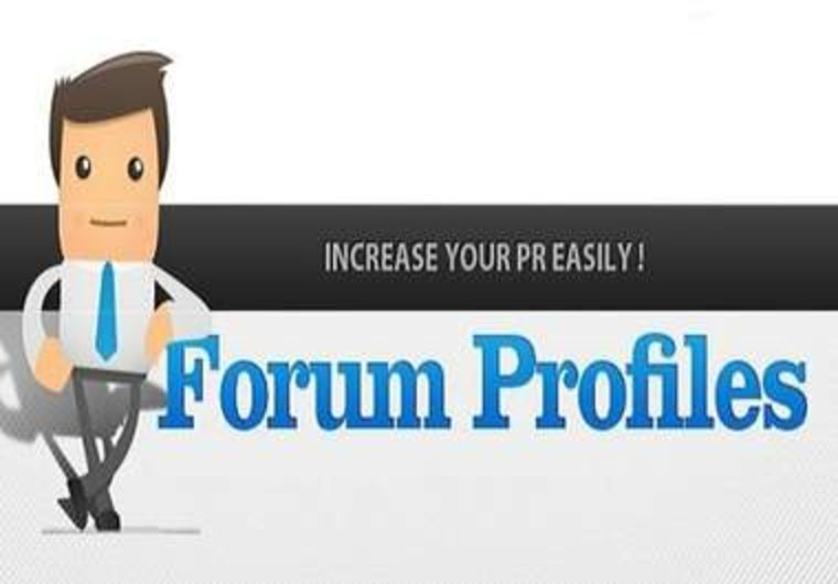 I can do 35 profile forum for your website