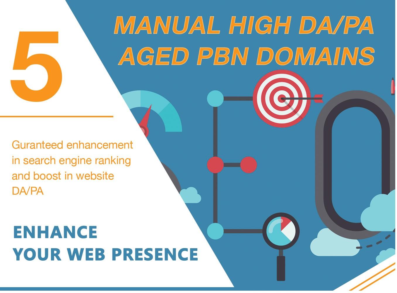 Get GOOGLE Serp Higher With 5 Permanent DA35+ PBNs Backlinks
