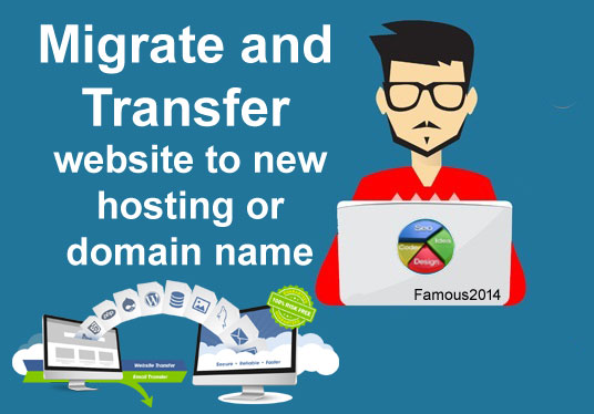 Migrate and transfer website to new hosting or Domain...