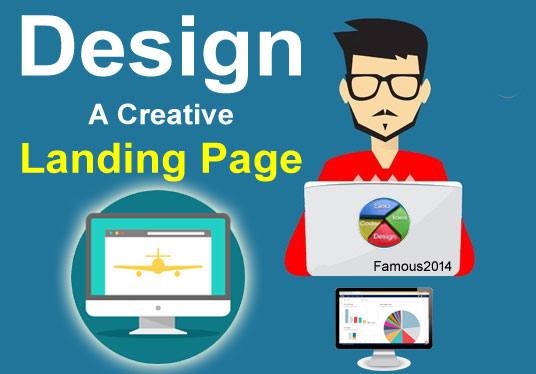 Design A creative landing page/homepage for your webs...