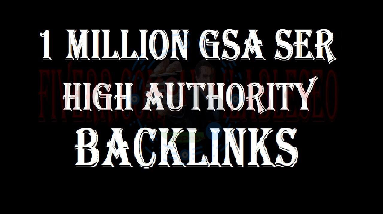Create 1M Gsa,  Ser,  Seo Backlinks For Any Site Or URL