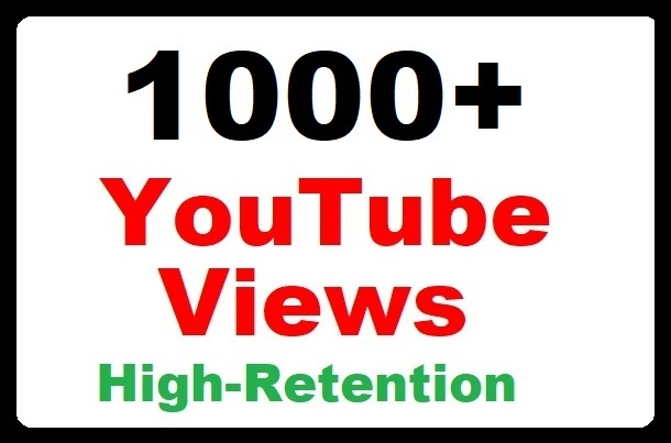 Limiteed Offer 1000+ High Quality Video promotion V   i   e   w   s lifetime guaranteed very fast within 24-48 Hours complete