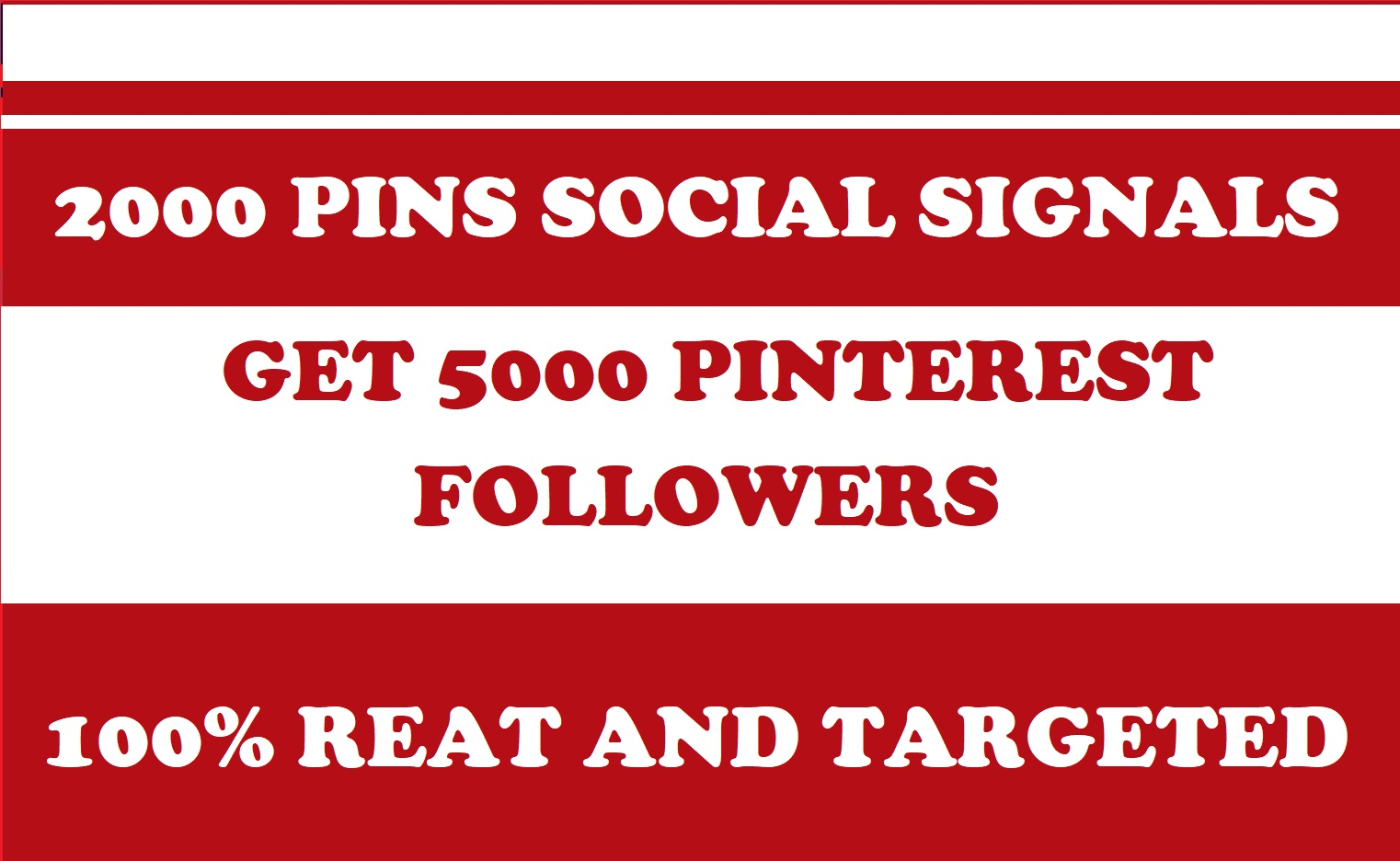 5000 Pinterest followers 2000 pin social signals manually