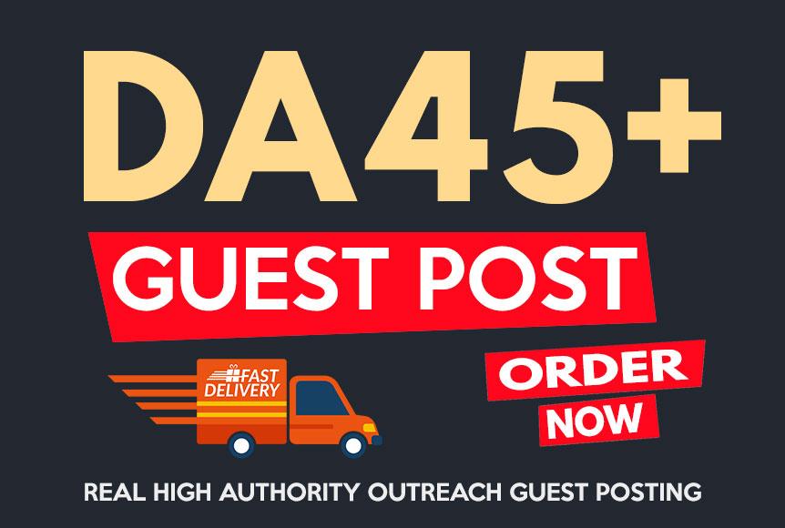 Publish Guest Post on High Authority DA45+ Site