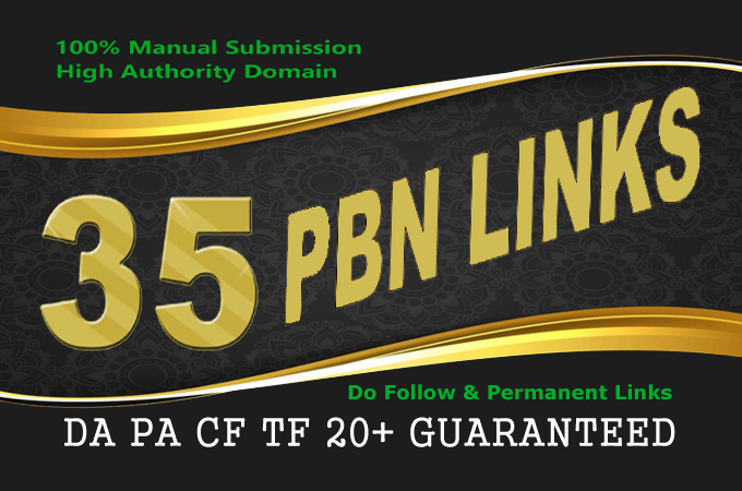 build manually 35 PBN post SEO backlink for your webs...