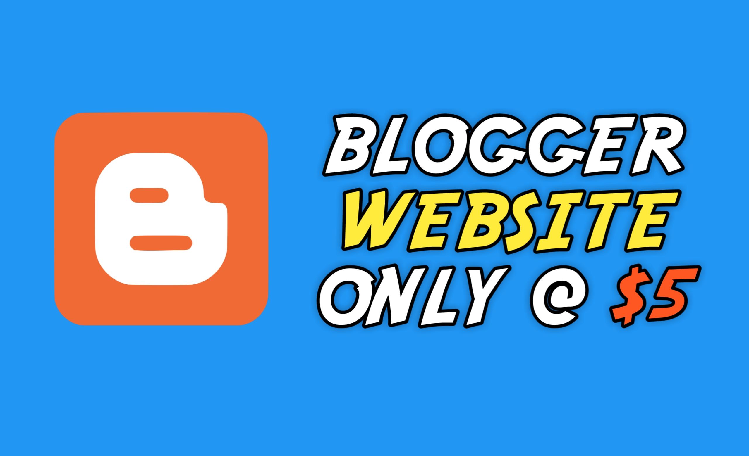 Order Blogspot Blog