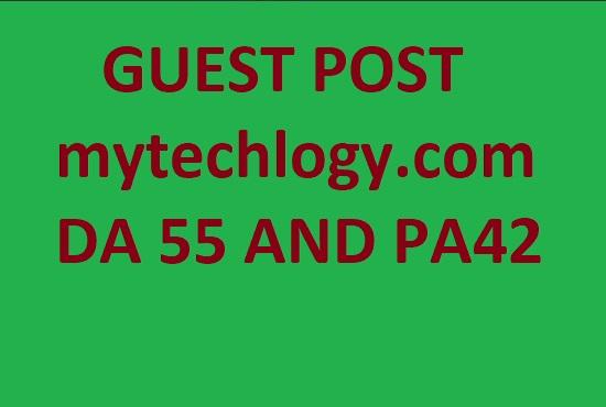 guest post on mytechlogy. com