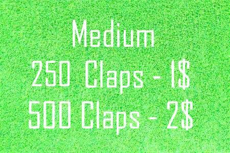 250 Medium Claps for your article