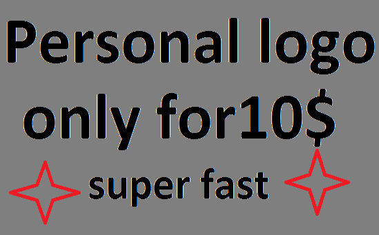 Personal logo design, super fast delivery