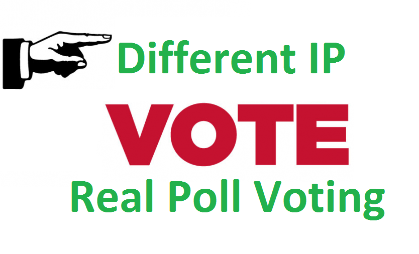 Different 300 ip votes on your online poll voting contest poll