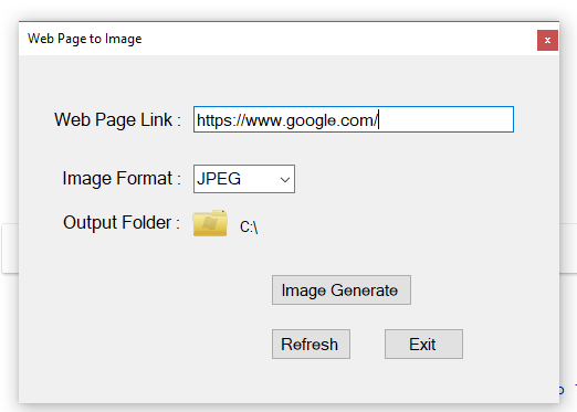 Web page to pdf or image