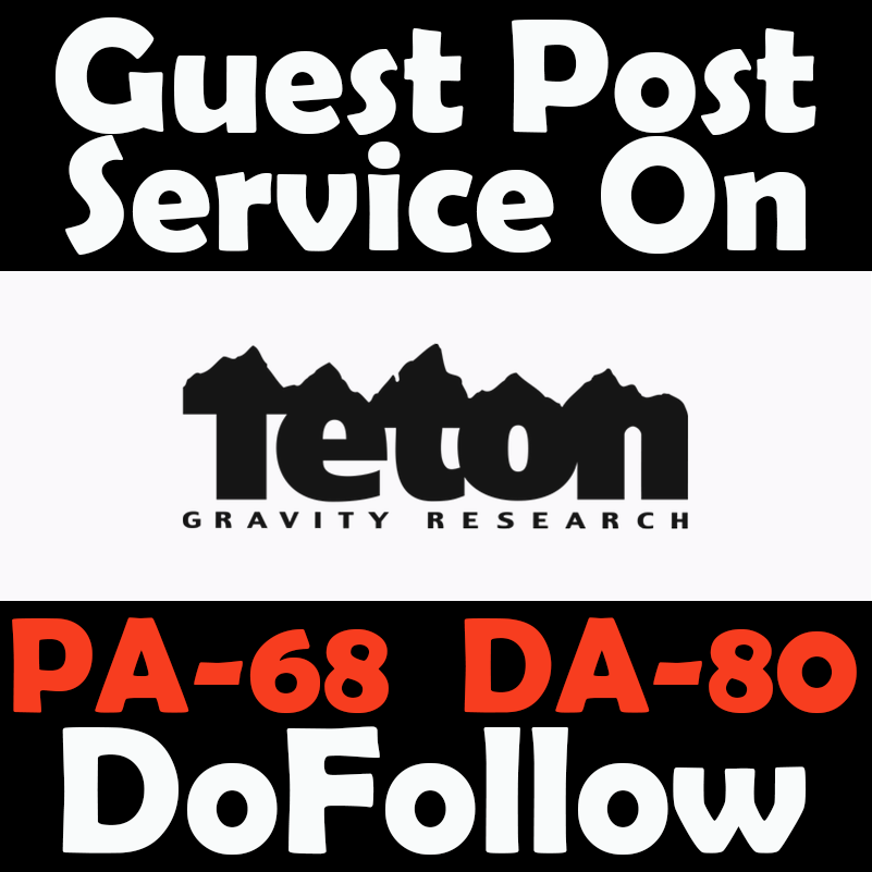 Write and publish guest post on TetonGravity with DoF...