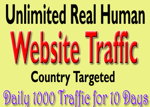 10000 Real Human Website Traffic for 10 days