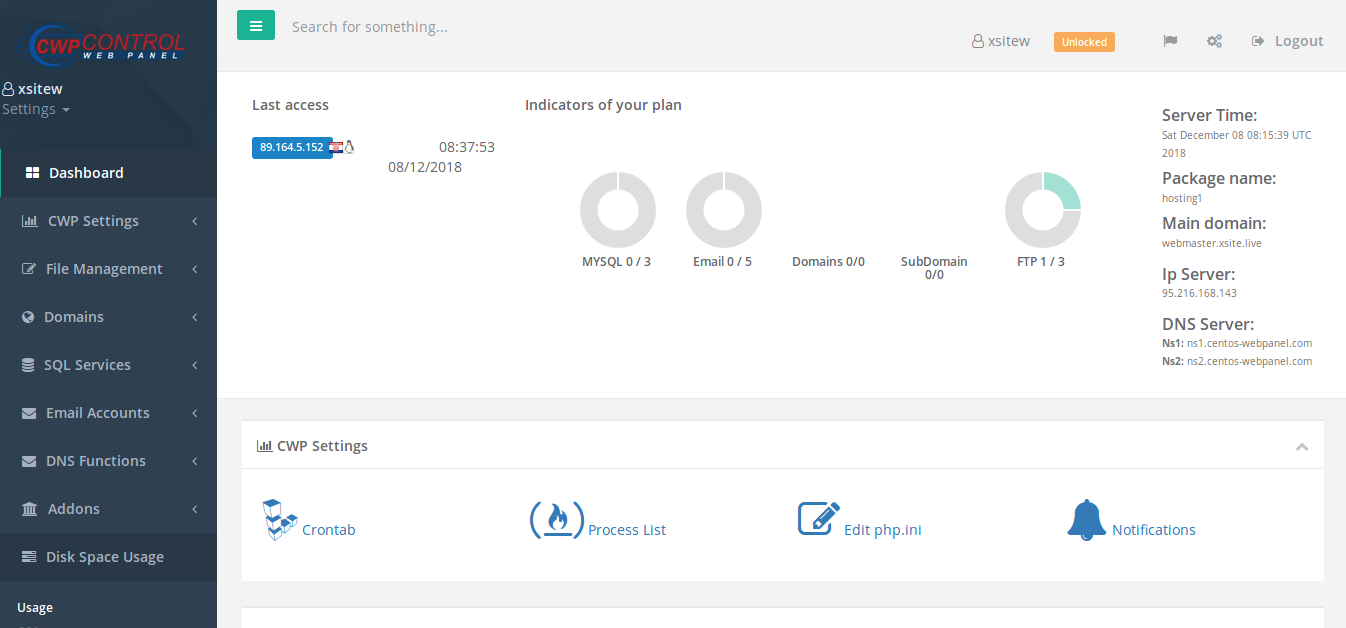 1 year subdomain web hosting - no domain needed - 1 website