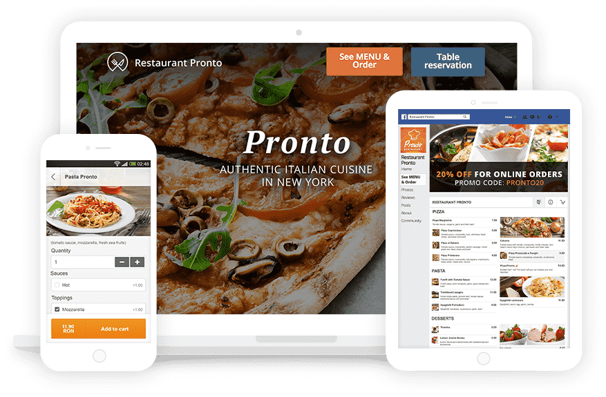 Special Pack for Restaurants - Online Food Ordering System with Apps