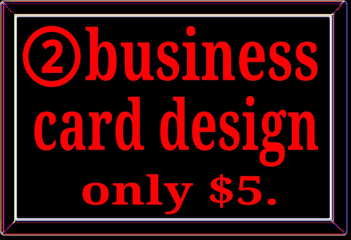 Professional 2 business card design fast delivery and instant start