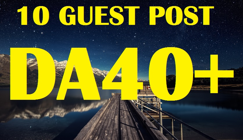 Create 10 guest post in my aged 40 plus Blogs