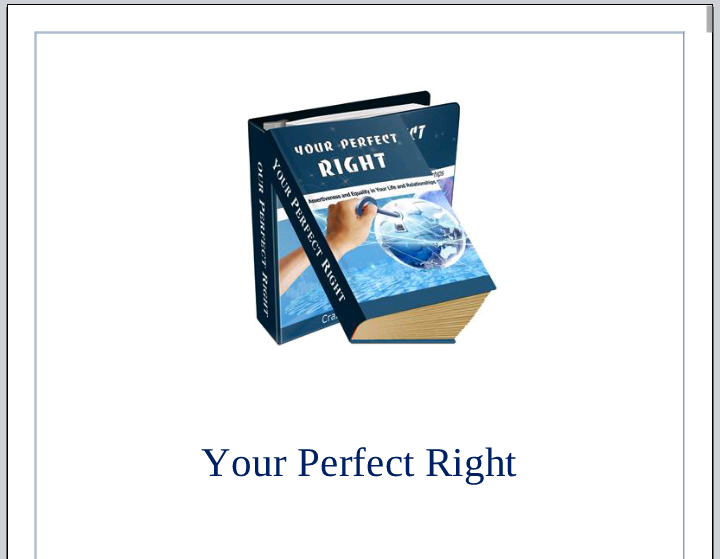Your Perfect Right eBook