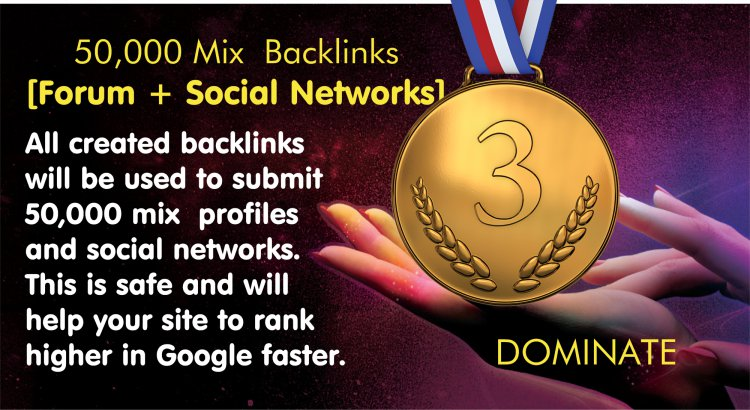 DOMINATE Ist Page Of GOOGLE With 50,000 Quality Backlinks and More