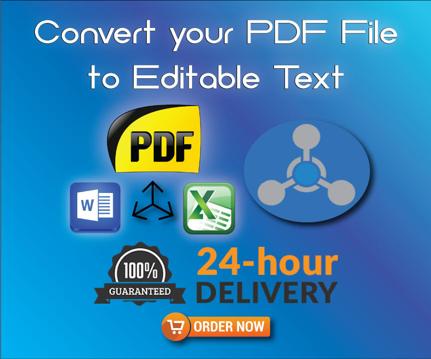 Convert your file and Editable text