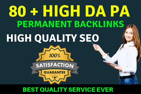 80 Plus High Da Pa Backlinks Permanent