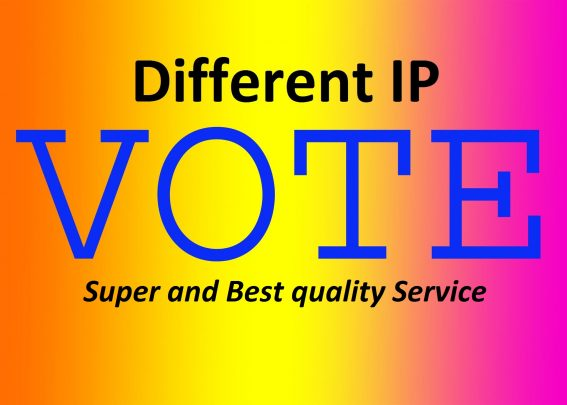 Promote 50 Unique IP votes  super fast service