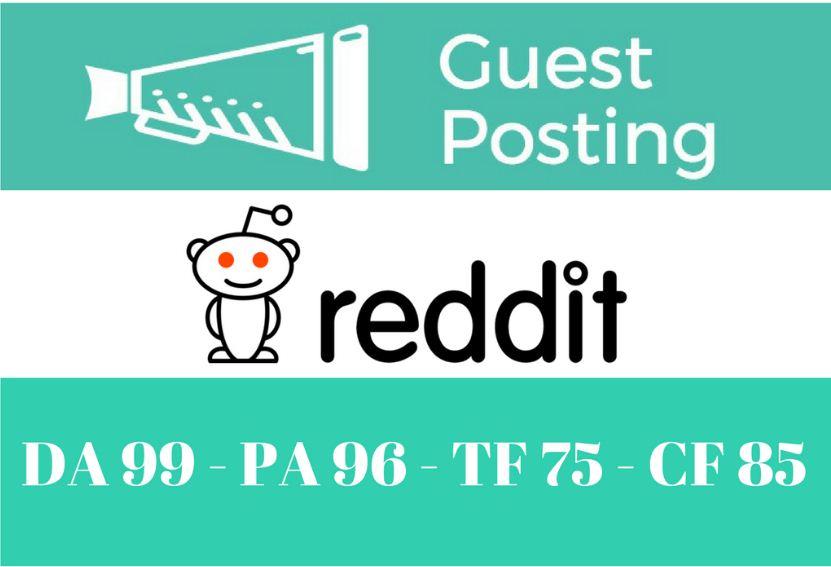 Guest Post On Reddit. com DA99