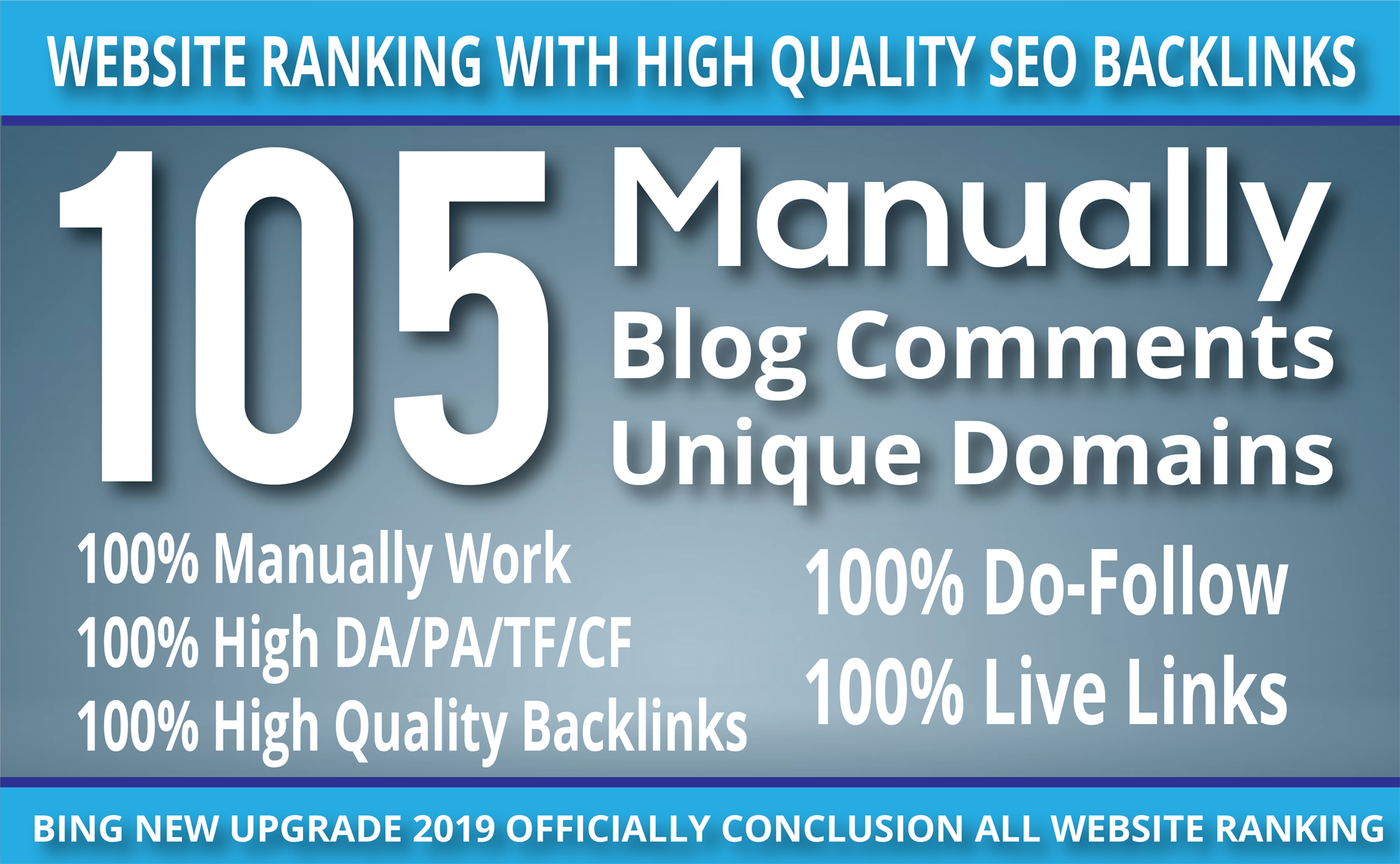 I Do 105 blog comment Seo backlinks ON unique domains