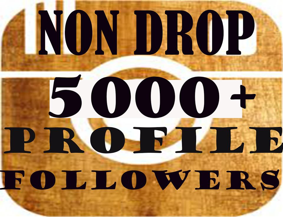 ADD 5000+Social Profile Followers NON DROP